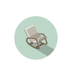Isometric modern rocking chair 3d flat interior vector