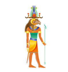 khnum egyptian god deity nile source god with vector image