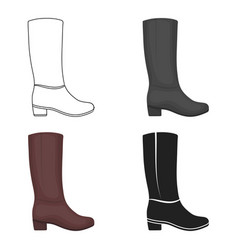 knee high boots icon in cartoon style isolated on vector image