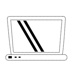 laptop pc technology vector image