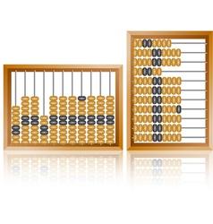 Maths abacus vector