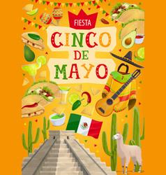 mexican holiday fiesta cinco de mayo celebration vector image
