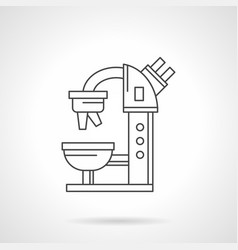 Microscope flat line icon vector