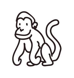 Monkey doodle animal vector