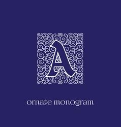 Monogram a vector