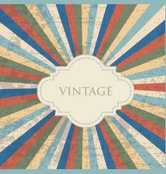 Old vintage abstract background vector