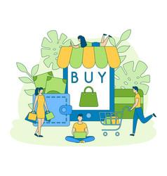 online shop buy sale order filled outline vector image