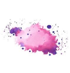Pink purple shade watercolor splatter splash vector