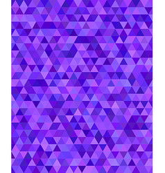 Purple triangle mosaic background design vector image