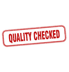 Quality checked stamp quality checked square vector