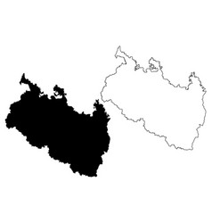 Rangpur division map vector
