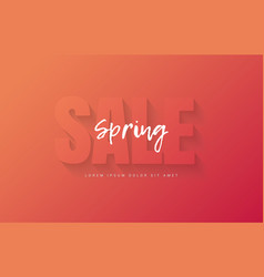 red spring banner for sale vector image