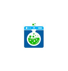 Research laundry logo icon design vector