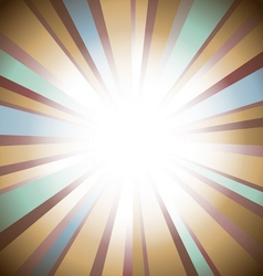 Retro sunburst vector image