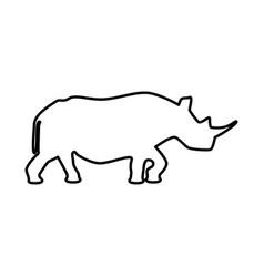 rhinoceros black icon vector image