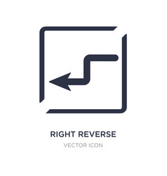 Right reverse curve icon on white background vector