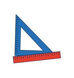 Ruler and triangle supply measure geometry vector