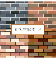 Seamless brick wall rectangular pattern vector image