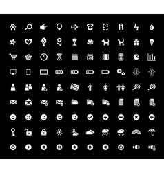Set of 90 Web Icons vector image