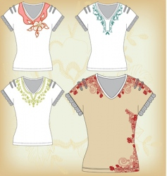shirt design collection vector image