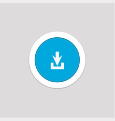 Simple download button icon for cell phone vector