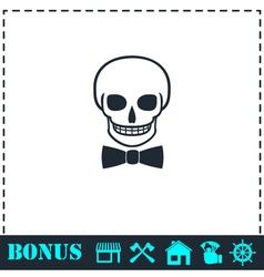 Skull icon flat vector image