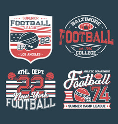 soccer club football league retro t-shirt prints vector image