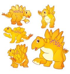 Stegosaurus yellow vector