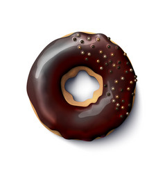 stock realistic donut vector image