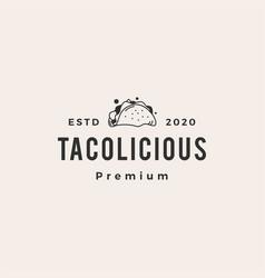 taco hipster vintage logo icon vector image
