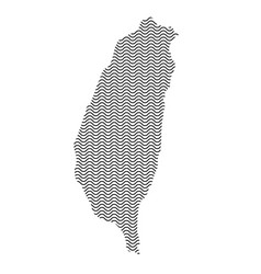taiwan map country abstract silhouette of wavy vector image