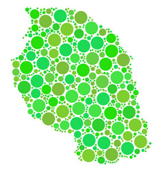 Tanzania map collage of dots vector