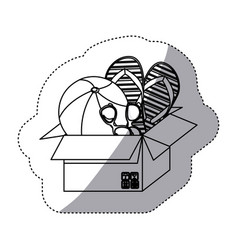 Thing inside the box icon vector
