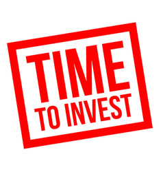 Time to invest stamp vector