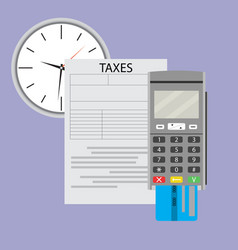 Time to pay taxes on income vector