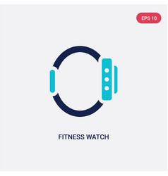 Two color fitness watch icon from gym and fitness vector