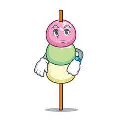 Waiting dango mascot cartoon style vector