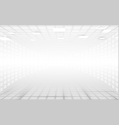 white and grey abstract rectangles perspective vector image