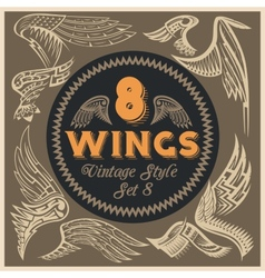 Wings Set Vinyl-ready vector