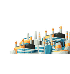 with factories or industrial vector image