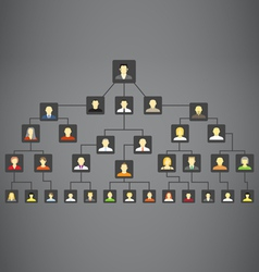 Abstract family tree vector image