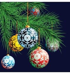 Christmas background Festive balloons vector image
