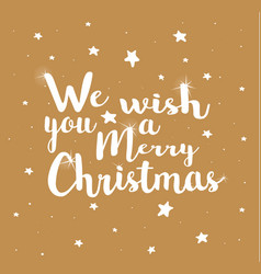 merry christmas on a gold background vector image vector image