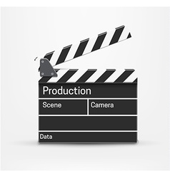 movie realistic theme eps 10 isolated on white vector image vector image