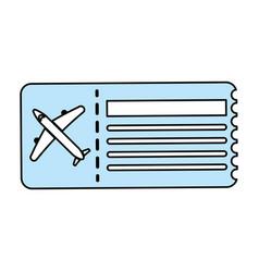 plane ticket vector image vector image