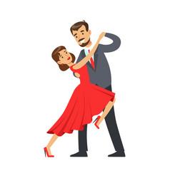 professional dancer couple dancing tango colorful vector image