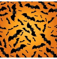 Seamless pattern with bats vector image vector image