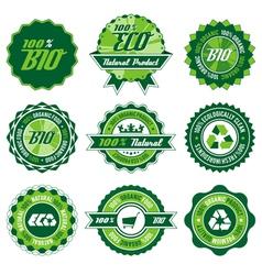 bio label set vector image vector image