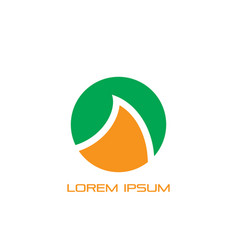 circle wave sign logo vector image
