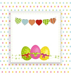 Easter background with panel and bunting vector image